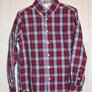 NWT Christmas Plaid shirt sz 10-12